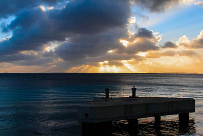 Photograph - Bonaire Sunset by Haren Images- Kriss Haren