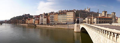 Saone River Photograph - Bonaparte Bridge Over The Saone River by Panoramic Images