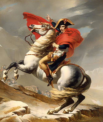 Concept Painting - Bonaparte Crossing The Alps 1800 by Mountain Dreams