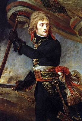Painting - Bonaparte On The Bridge by Jean Antoine Gros