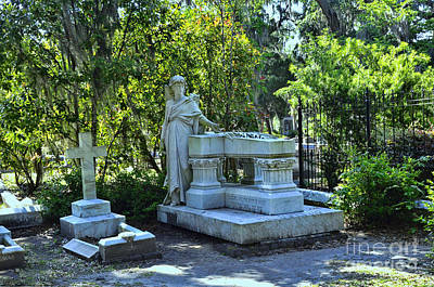 Photograph - Bonaventure Cemetery 2 by Allen Beatty