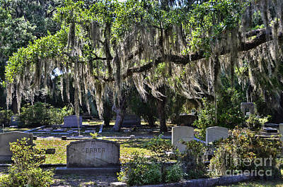 Photograph - Bonaventure Cemetery by Allen Beatty