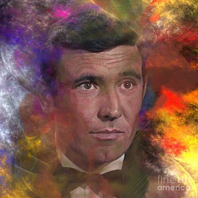 Digital Art - Bond - James Bond 2 - Square Version by John Beck