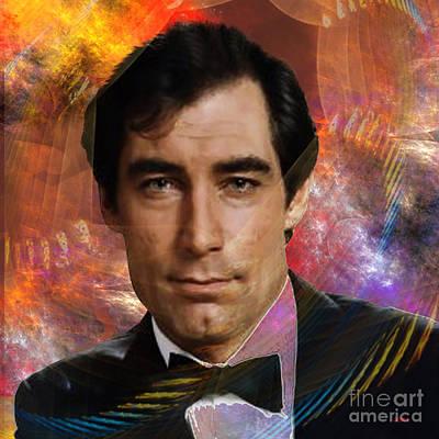 Digital Art - Bond - James Bond 4 - Square Version by John Beck
