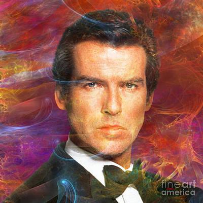 Digital Art - Bond - James Bond 5 - Square Version by John Beck