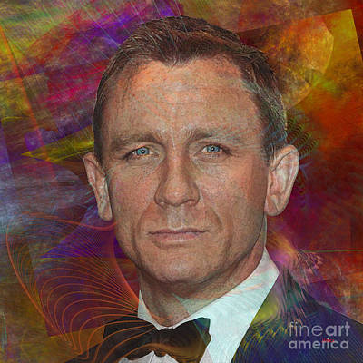 Digital Art - Bond - James Bond 6 - Square Version by John Beck