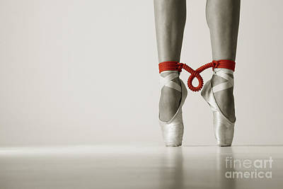 Ballet Shoes Photograph - Bondage On Pointe by John Tisbury