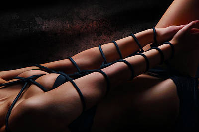 Submissive Women Art Photograph - Bondage Shibari Art by Rod Meier