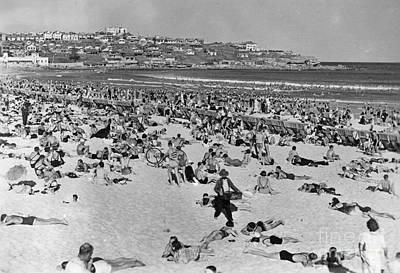 Paris Skyline Royalty-Free and Rights-Managed Images - Bondai Beach 1932 Sydney Austalia by Nicholas Cornhill