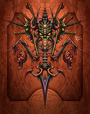 Reaper Digital Art - Bone by David Bollt