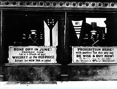 Bone Dry In June - Prohibition Sale Art Print by Bill Cannon