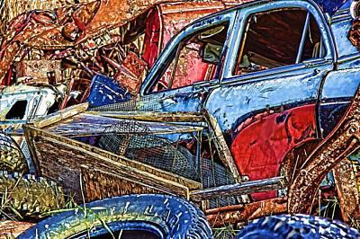 Photograph - Trash Car by Kathy Bassett