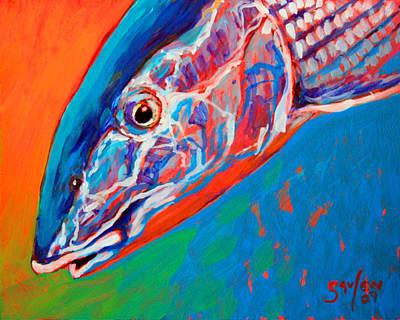 Bonefish Closeup Art Print by Savlen Art