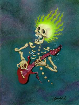 Bonehead Blues Art Print