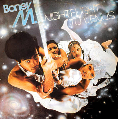 Mixed Media Royalty Free Images - Boney M Night flight to Venus Royalty-Free Image by Gina Dsgn