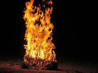 Photograph - Bonfire by Aaron Martens