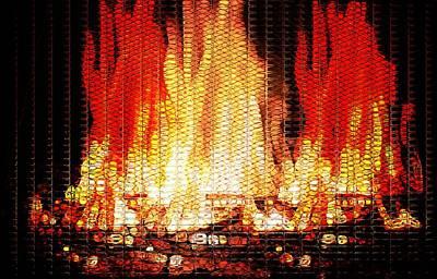 Bonfire Mosaic Art Print
