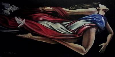 Rican Painting - Bonita Bandera by Ramon Lopez Collazo