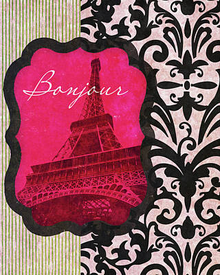 Scroll Digital Art - Bonjour by John Spaeth
