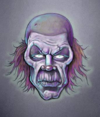 Klown Drawing - Bonk by Lance Shaffer