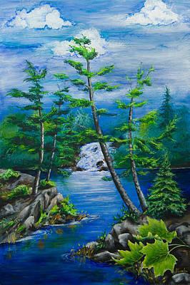 Bonnechere Falls Art Print by Jill Alexander