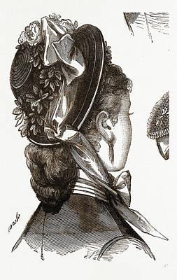 Bonnet, Fashion, Needlework Art Print