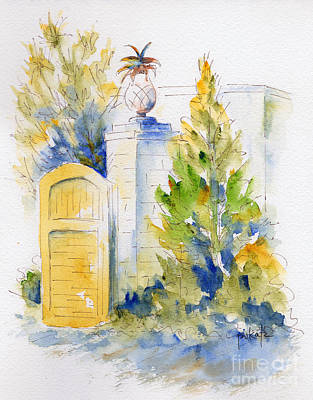 Painting - Bonnet House Garden Gate by Pat Katz