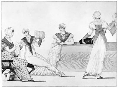 Seamstress Painting - Bonnet Makers, 1807 by Granger