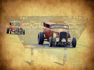 Bonneville Rodz Art Print