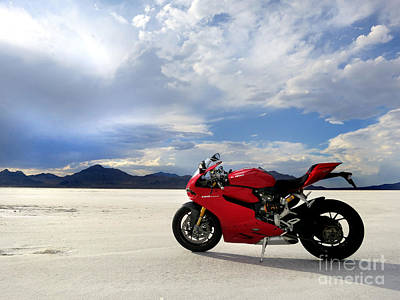 Bonneville Salt Flats 2 Art Print by AntiHero Panigale