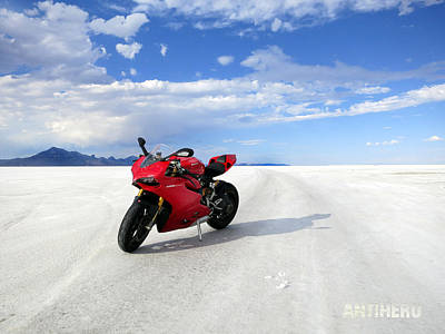 Bonneville Salt Flats 3 Art Print by AntiHero Panigale
