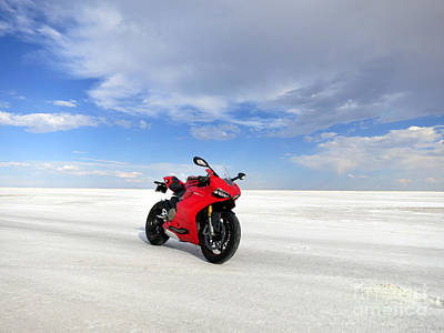 Bonneville Salt Flats Art Print by AntiHero