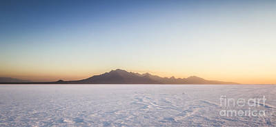 Salt Flat Photograph - Bonneville Salt Flats Landscape by Holly Martin