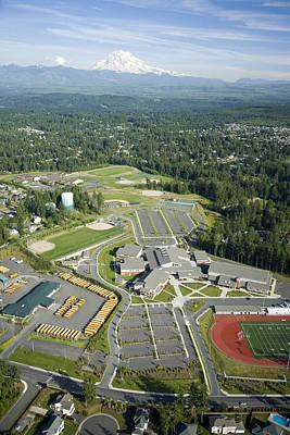 Photograph - Bonney Lake High School, Mount Rainier by Andrew Buchanan/SLP