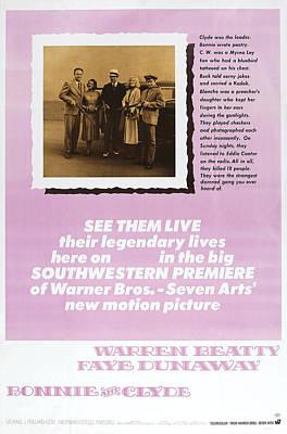 Warren Beatty Photograph - Bonnie And Clyde, Us Poster Art by Everett