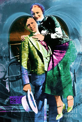 Bonnie Loves Clyde 20150523 Art Print by Wingsdomain Art and Photography
