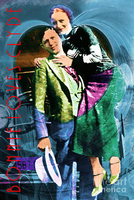 Photograph - Bonnie Loves Clyde 20150523 With Text by Wingsdomain Art and Photography