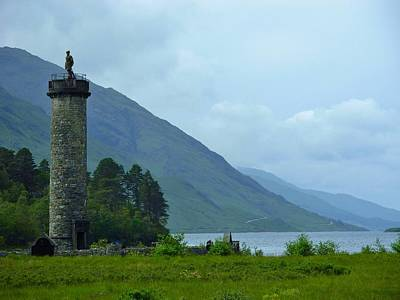 Photograph -  The Scots Monument At Glenfinnin Scotland by Joan-Violet Stretch