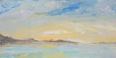Bonniville Salt Flats 6x12 In Original by Chi E Shenam Westin