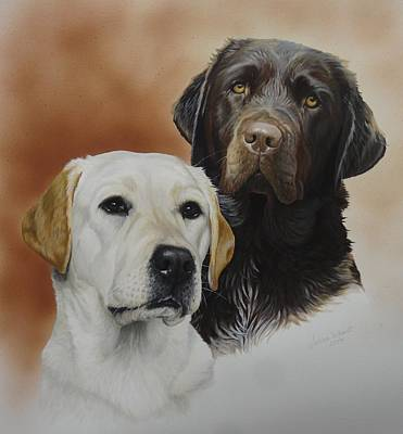 Wall Art - Painting - Bonny And Ellie by Julian Wheat