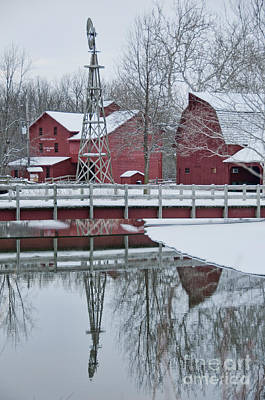 Photograph - Bonneyville Mill Winter by David Arment
