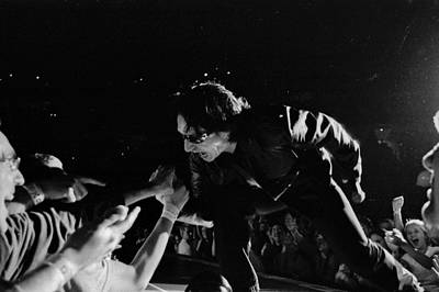 U2 Photograph - Bono 051 by Timothy Bischoff
