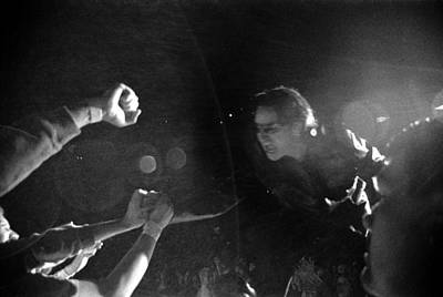 U2 Photograph - Bono 053 by Timothy Bischoff