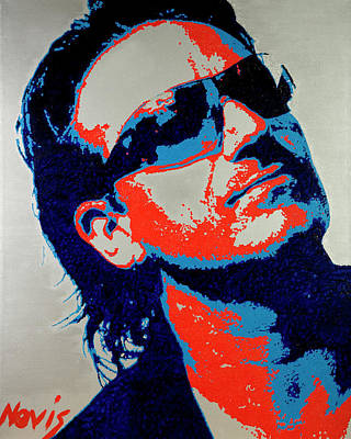 U2 Painting - Bono by Barry Novis