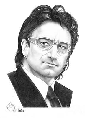 Bono Drawing - Bono by Murphy Elliott
