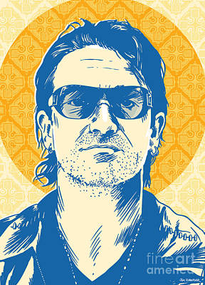 U2 Digital Art - Bono Pop Art by Jim Zahniser