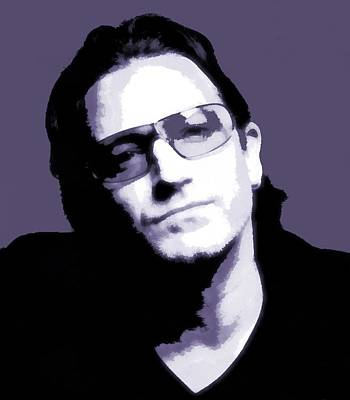 U2 Mixed Media - Bono Portrait by Dan Sproul