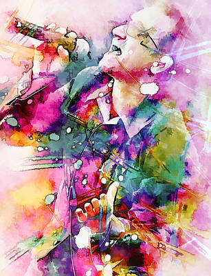 Bono Singing Art Print by Rosalina Atanasova