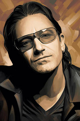 U2 Painting - Bono U2 Artwork 2 by Sheraz A