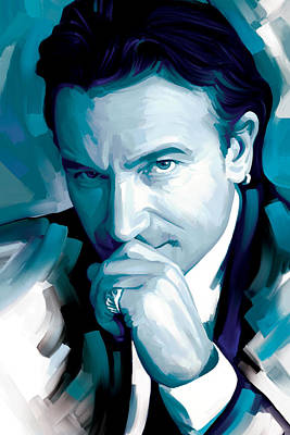 Bono Painting - Bono U2 Artwork 4 by Sheraz A